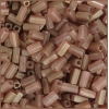 Tubes Square Beads 7X3.4mm Square Hole Pink Luster Matte